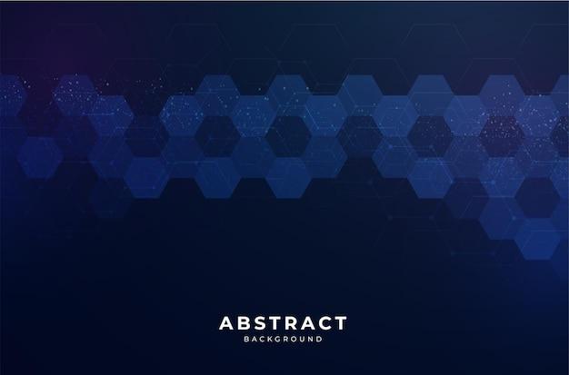 六角形のデザインとモダンな抽象的な背景 無料ベクター
