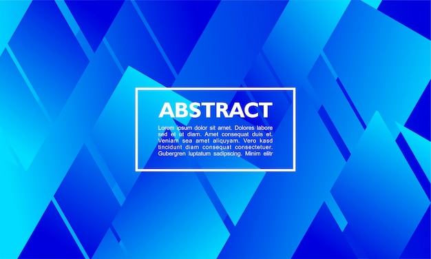 Modern abstract background with overlapping rectangle shape on blue colors Premium Vector