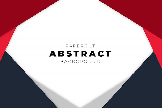 Modern abstract background with papercut shapes Free Vector