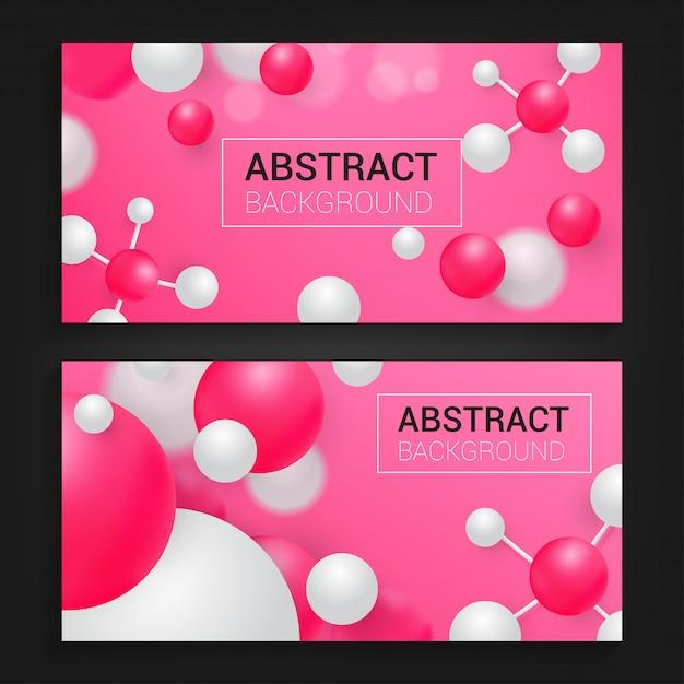 Современный абстрактный фон с красным цветом Premium векторы