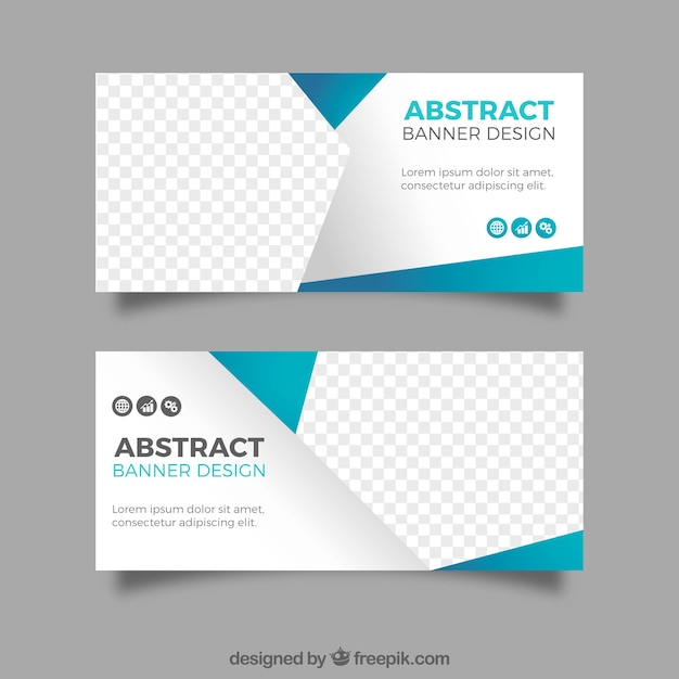 Modern abstract banners