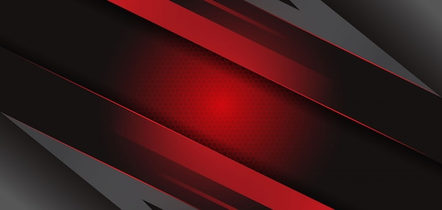 Premium Vector Modern Abstract Black Red Template Background