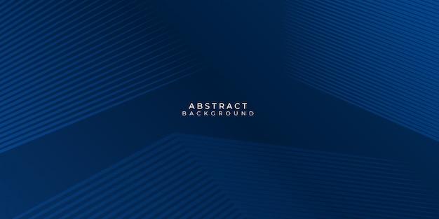 선 줄무늬와 반짝 효과 그림 현대 추상 파란색 배경. 비즈니스, 기업, 배너, 배경 등에 적합합니다. 프리미엄 벡터