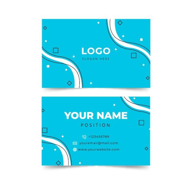 Современный абстрактный синий шаблон визитной карточки Бесплатные векторы