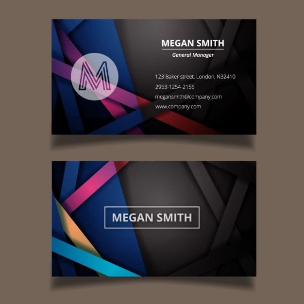 Modern abstract business card template vector free download modern abstract business card template free vector reheart Images