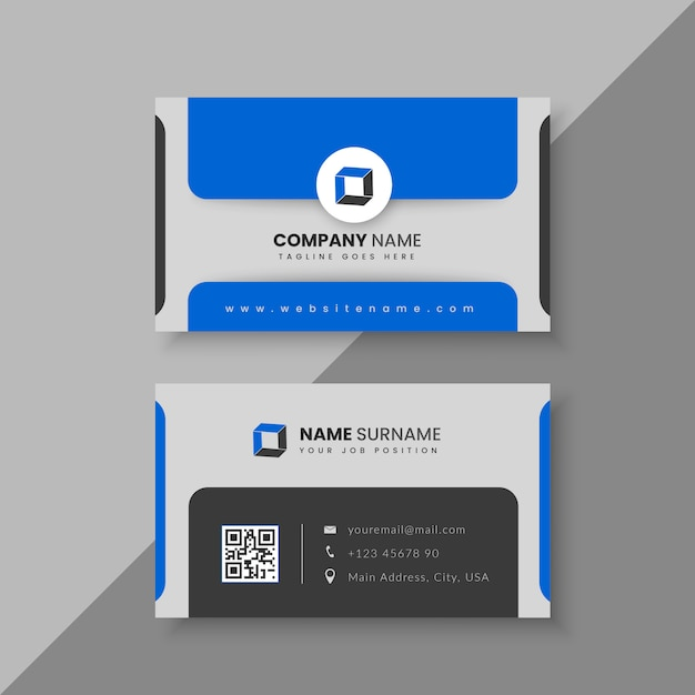 Modern abstract business card template Premium Vector