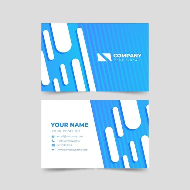Современный абстрактный шаблон визитной карточки Бесплатные векторы