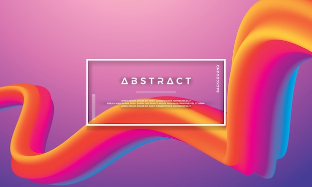 Modern abstract colorful wave, flow liquid background Premium Vector
