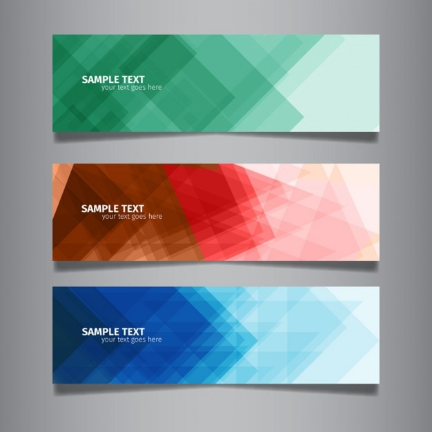 Modern abstract colorful web banners