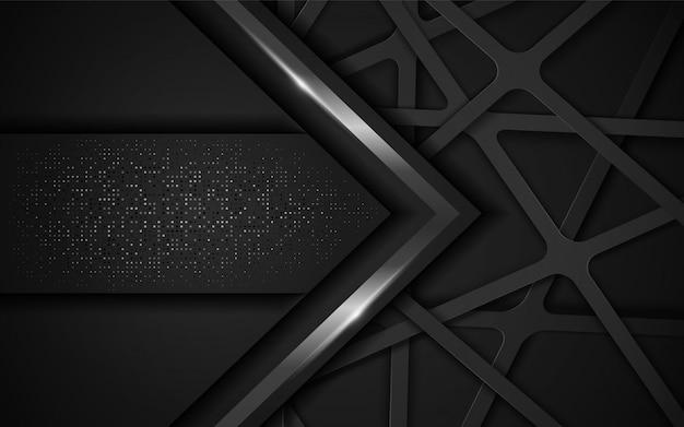 Modern abstract dark background. Premium Vector