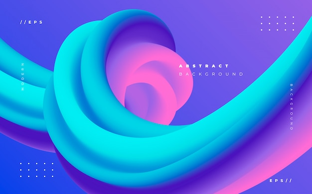 Modern abstract fluid background Free Vector