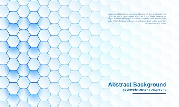 Modern, abstract, futuristic, geometric blue hexagon background Premium Vector