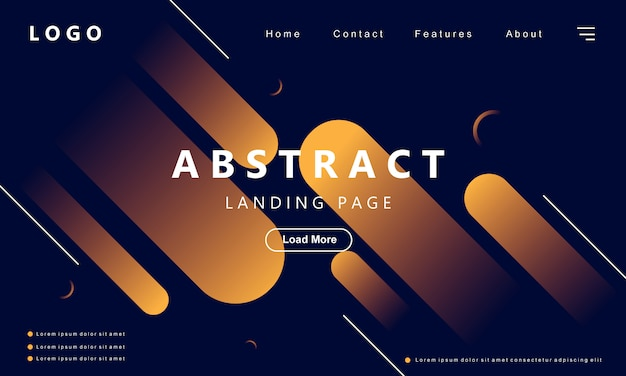 Modern abstract geometric background gradient style Premium Vector