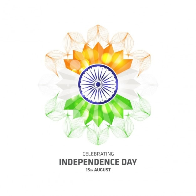 Modern abstract indian independence day background
