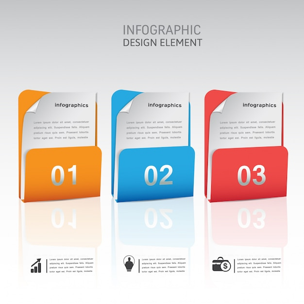 Modern abstract infographic element template Premium Vector