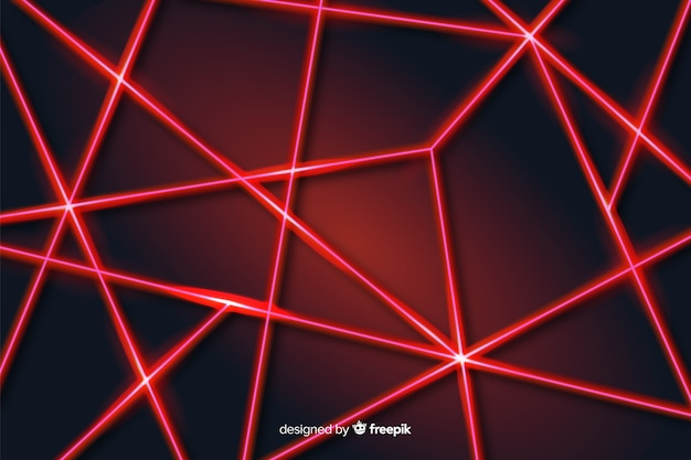 Modern abstract laser lines geometric background Free Vector