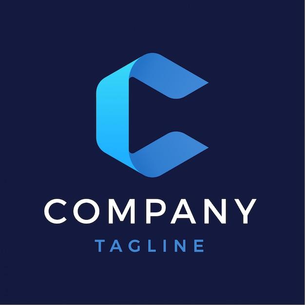 Modern abstract letter c logo Premium Vector