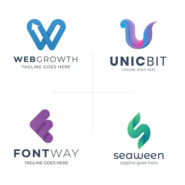 Modern abstract letter logo template Premium Vector