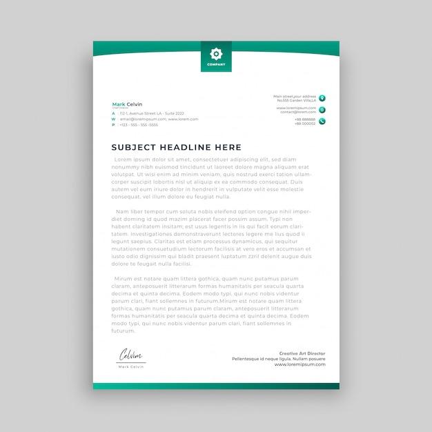 Modern abstract letterhead design Premium Vector