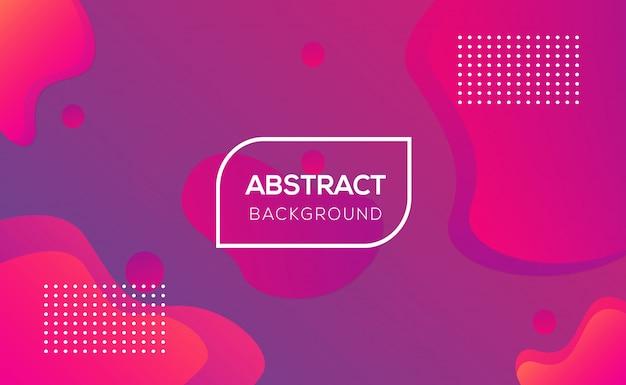 Modern abstract liquid  background design Premium Vector