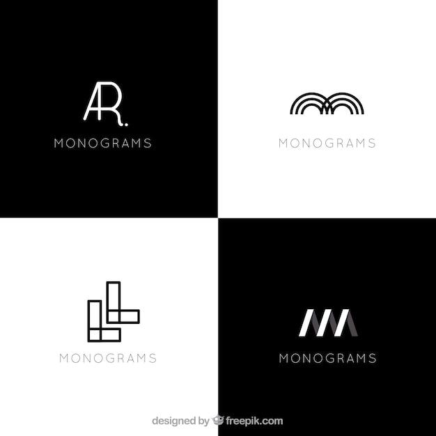 Modern abstract logos