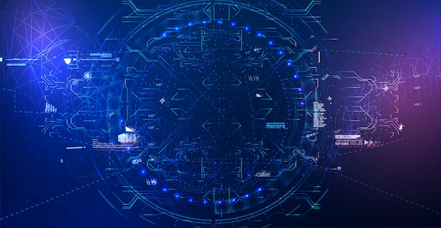 Modern abstract network science connection technology Premium Vector