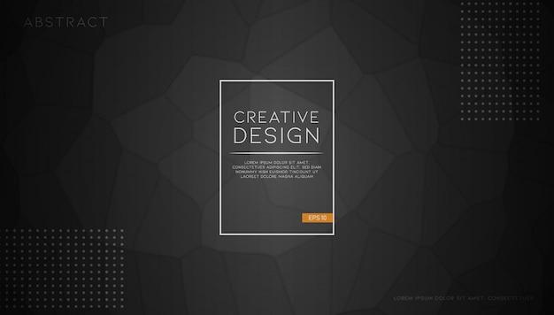 Modern abstract polygonal black background Premium Vector