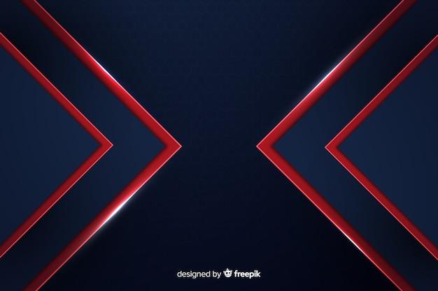 モダンな抽象的な赤い線の幾何学的な背景 無料ベクター