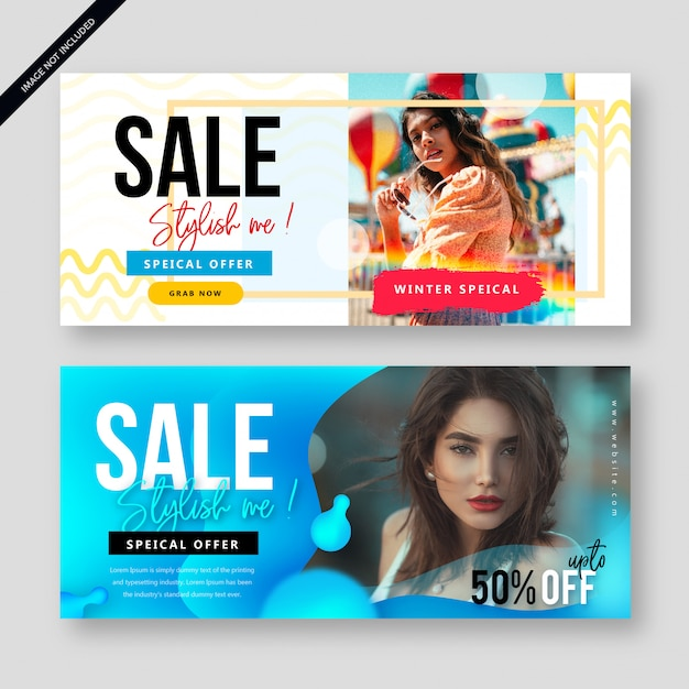 Modern abstract sale banner poster Premium Vector