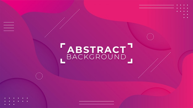 Modern abstract shapes with purple background Premium Vector