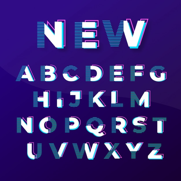 Modern abstract stylish fonts design Premium Vector