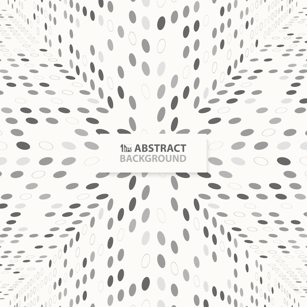 Modern abstract techno gray dots pattern design of perspective background Premium Vector