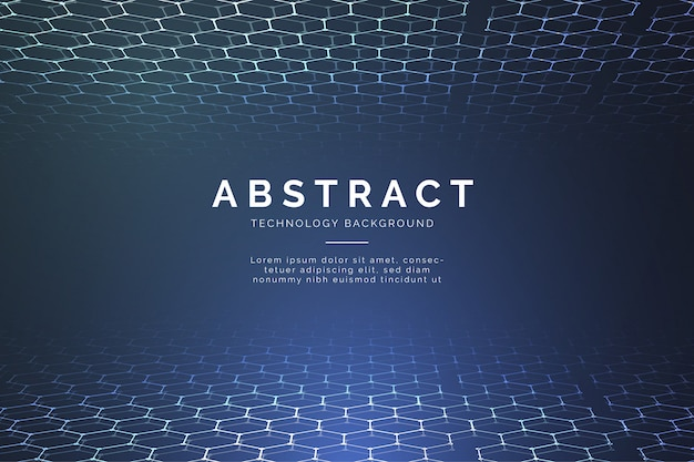 Modern abstract technology background with 3d hexagons Free Vector