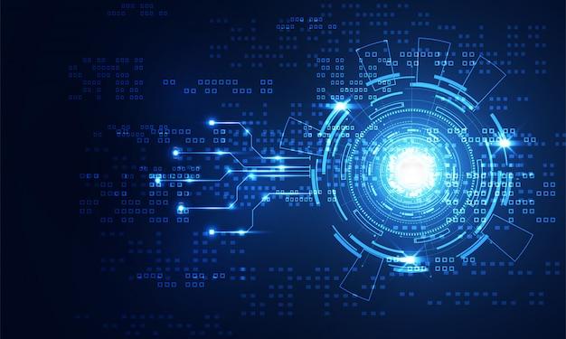Modern abstract technology communication Premium Vector