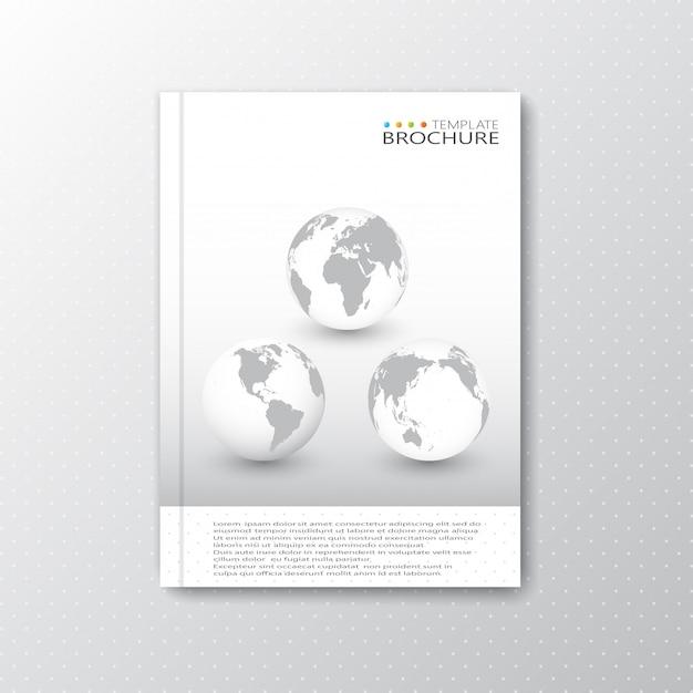 パンフレット、雑誌、チラシ、小冊子、カバー、またはa4図のレポートのモダンな抽象テンプレートレイアウト Premiumベクター