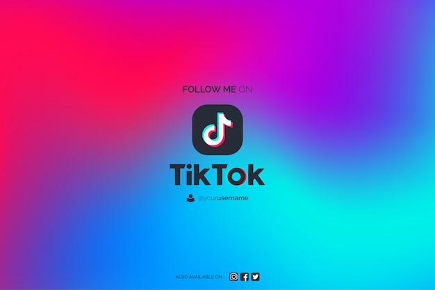 Free Vector Modern Abstract Tiktok Background