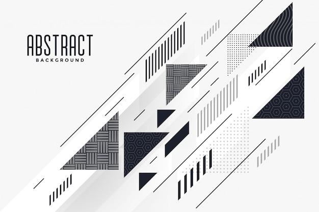 Modern abstract triangle and lines composition background Free Vector