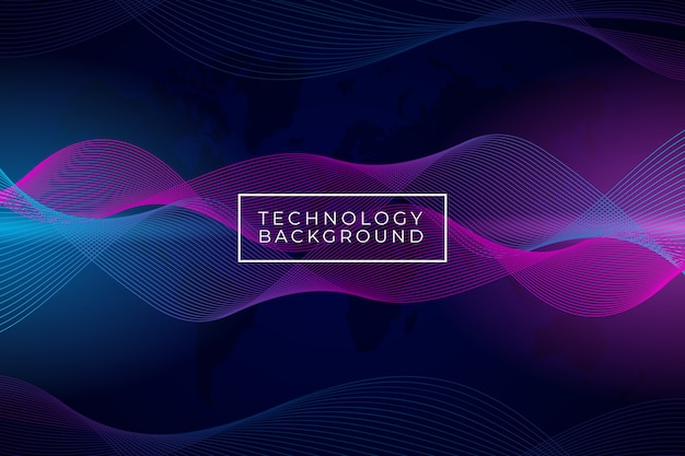 Modern abstract wave background with purple and blue gradient color Premium Vector