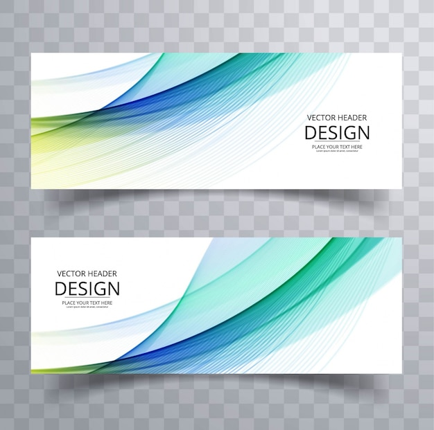 Modern abstract wavy banners