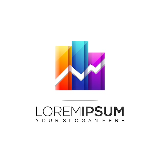 Modern accounting & financial logo template Premium Vector