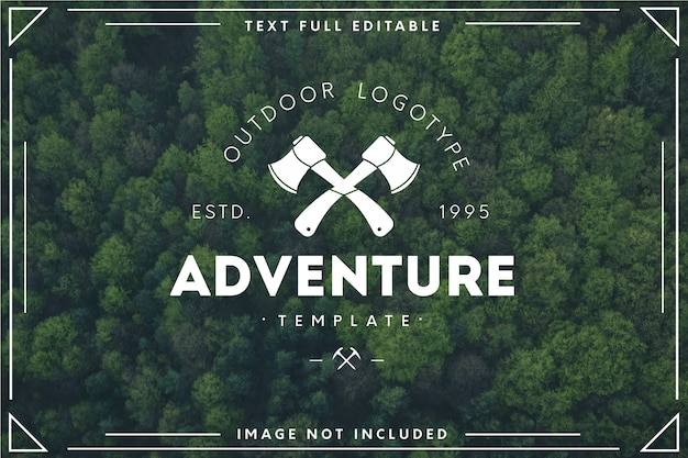 Modern adventure logo template Free Vector