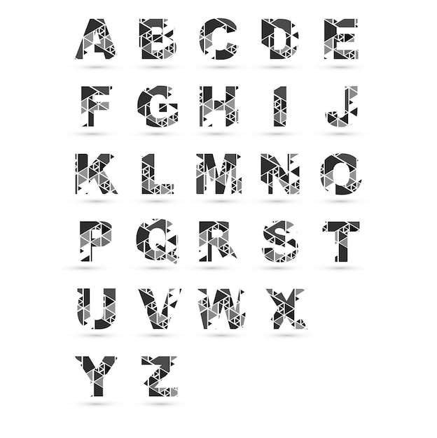 modern alphabet design free vector
