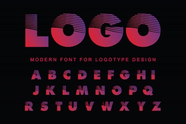 Modern alphabet font Premium Vector