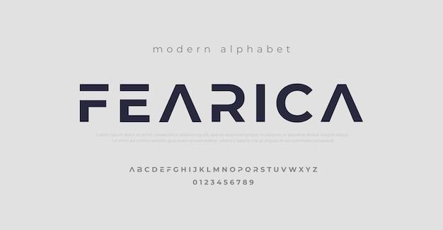 現代のアルファベットフォント。 Premiumベクター