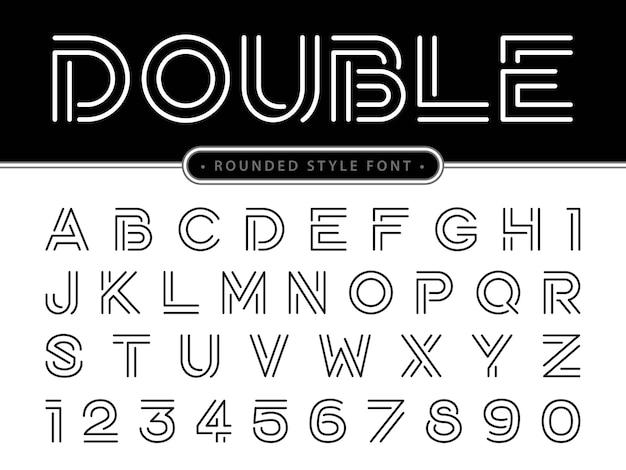 Modern alphabet letters Premium Vector