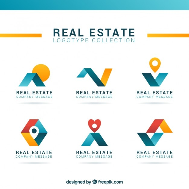 Modern and abstract real estate logos