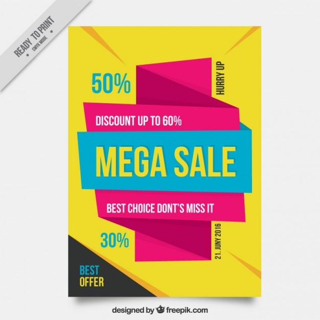 Modern and abstract sale flyer Free Vector