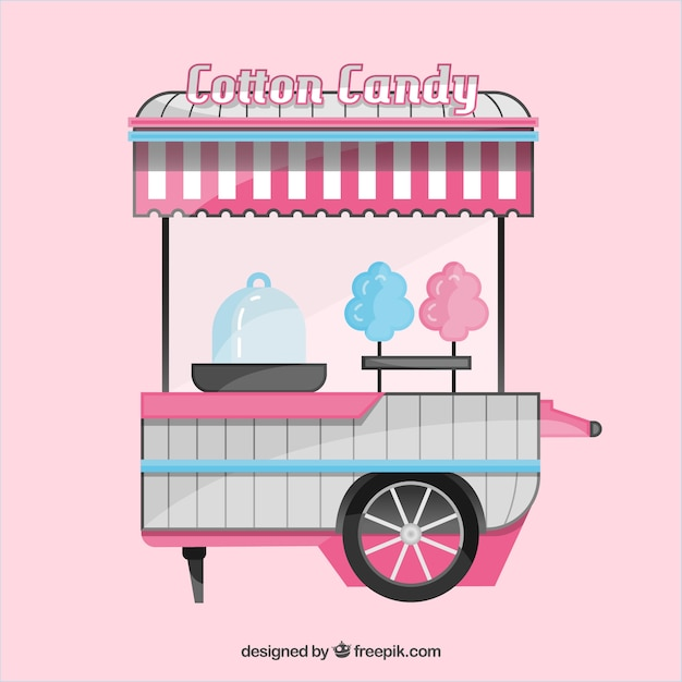 Modern and colorful cotton candy cart