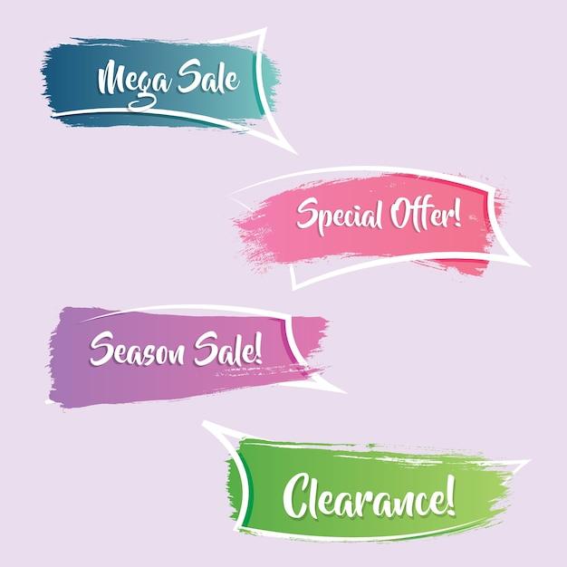 Современный и элегантный градиентный рекламный баннер или продажа лент Premium векторы