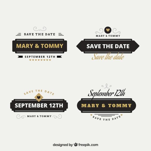 Modern and elegant wedding labels